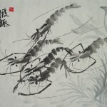 Calligraphy-and-painting-traditional-chinese-painting-font-b-shrimp-b-font-fun-font-b-picture-b