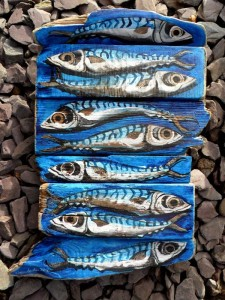 eight-mackerel-together-driftwood-art